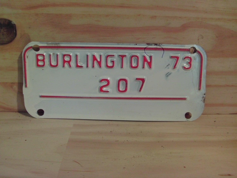 1973 Burlington North Carolina Motorcycle City Tax License Plate NC #207