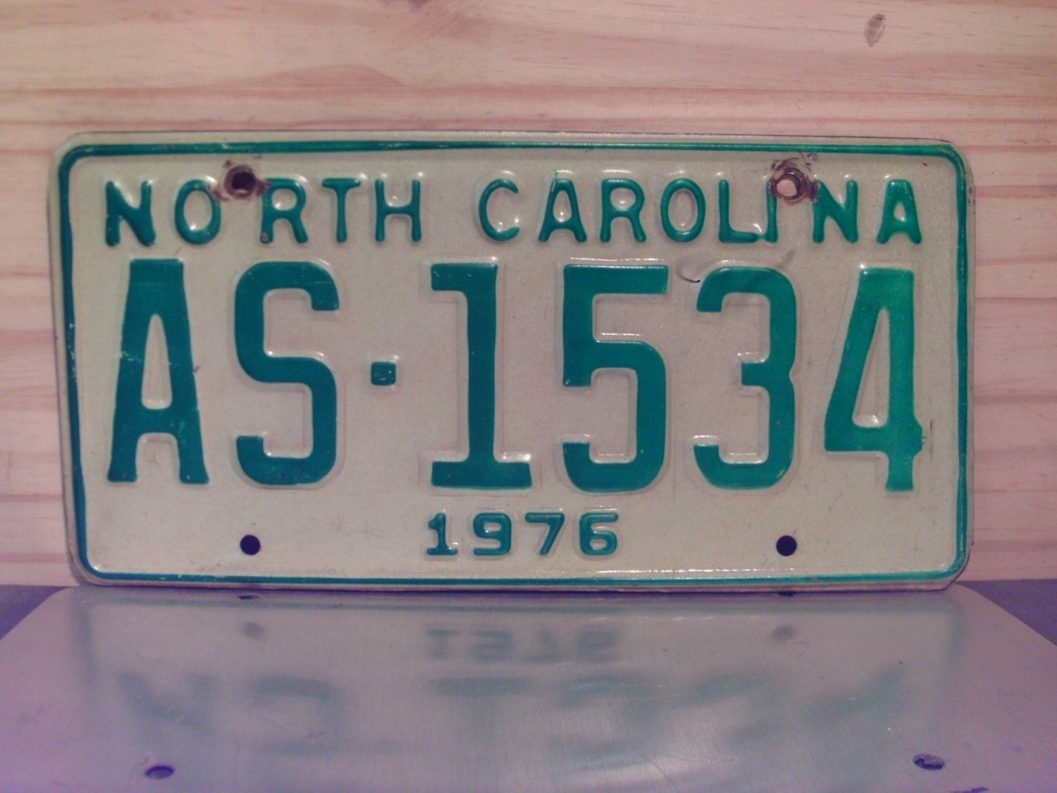 1976 North Carolina NC Truck YOM License Plate AS-1534
