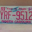 2009 North Carolina NC License Plate Tag YRF-9512