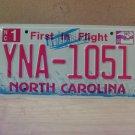 2009 North Carolina NC License Plate Tag YNA-1051
