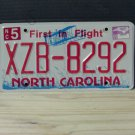 2009 North Carolina NC License Plate Tag XZB-8292