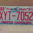 2009 North Carolina NC License Plate Tag XYT-7052
