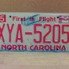2009 North Carolina NC License Plate Tag XYA-5205