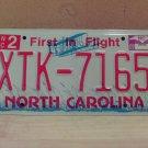 2009 North Carolina NC License Plate Tag XTK-7165