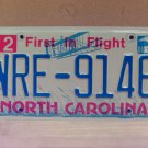 2008 North Carolina NC Blue Letter License Plate Tag #WRE-9146 EX-N