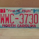 2008 North Carolina NC Red Letter License Plate Tag WWC-3730 EX-N