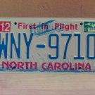 2007 North Carolina NC License Plate Tag #WNY-9710 EX-N