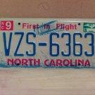 2007 North Carolina NC License Plate Tag #VZS-6363 EX-N