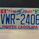 2007 North Carolina NC License Plate Tag #VWR-2406 EX-N