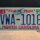 2007 North Carolina NC License Plate Tag #VWA-1018 EX-N