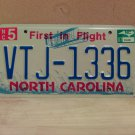 2007 North Carolina NC License Plate Tag #VTJ-1336 EX-N