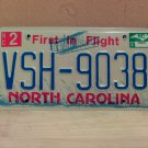 2007 North Carolina NC License Plate Tag #VSH-9038 EX-N