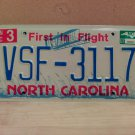 2007 North Carolina NC License Plate Tag #VSF-3117 EX-N