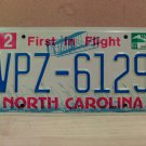 2007 North Carolina NC License Plate Tag #VPZ-6129 EX-N