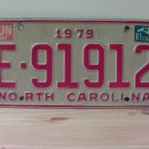 1981 North Carolina NC Trailer License Plate Tag E-91912