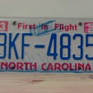 2015 North Carolina License Plate NC BKF-4835