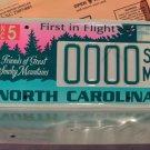 2000 North Carolina NC Smoky Mountains Sample License Plate Tag #0000SM