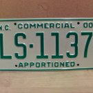 2000 North Carolina Apportioned Truck License Plate Mint NC #LS-1137