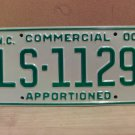 2000 North Carolina Apportioned Truck License Plate Mint NC #LS-1129