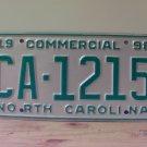 1998 North Carolina NC Commercial Truck License Plate Small '19' Mint #CA-1215