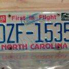 1993 North Carolina License Plate Tag NC #DZF-1535