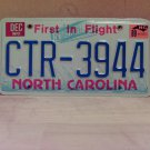 1989 North Carolina EX License Plate Tag NC #CTR-3944