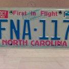 1985 North Carolina EX License Plate Tag NC #FNA-117