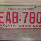 1975 North Carolina YOM License Plate Tag EX NC EAB-780