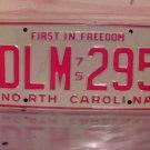 1975 North Carolina NC License Plate Tag DLM-295