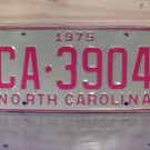 1975 North Carolina YOM License Plate Tag NC EX CA-3904