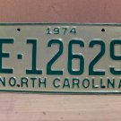 1974 North Carolina Mint YOM Trailer License Plate NC E-12629
