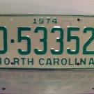 1974 North Carolina Mint YOM Trailer License Plate NC D-53352