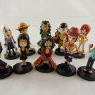 one piece figure FIGURES SET 10 PCS LUFFY nami ace JAPAN COLLECTION robin milia