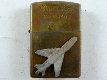 Vietnam War vintage cigarette cigarettes lighter lighters case 72 73 airplane a