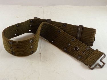 vietnam war GEAR ERA WEB US pistol ARMY CANVAS belt AND SIZE M FIELD buckle VC