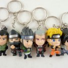 naruto keychain keyring key chain anime figure figures ninja bandi Sasuke Hidan