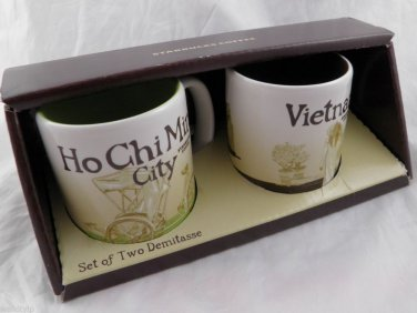Starbucks Mug Cup Small Coffee City New Collector Vietnam Ho Chi Minh 3 Oz serie