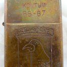 Vietnam War vintage cigarette cigarettes lighter lighters case 66 67 airborne ha