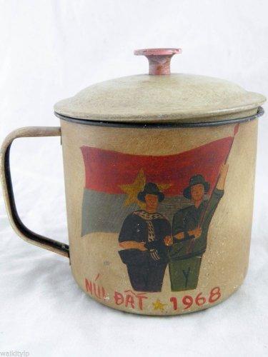 vietnam viet nam cong VIETCONG war us mug era cup rare hot 1968 1 ONE SET VC F a