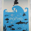 Poster Ponyo Movie Miyazaki Hayao Sided Animation Double Ghibli Adv X Orig rare