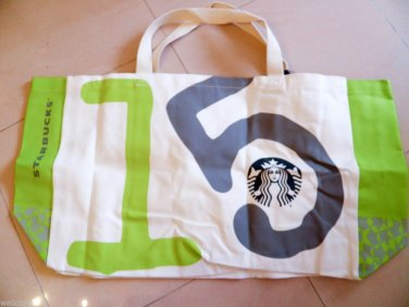 Starbucks Bag Coffee New Tote Canvas Edition Limited Bags Rare Green 2014 Gift a