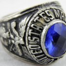 ring vietnam era military war gear collectibles SIZE 9.5 USMC Marine Corp Blue a