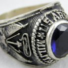 ring vietnam era military war gear collectibles SIZE 10 US Army Military Po Blue