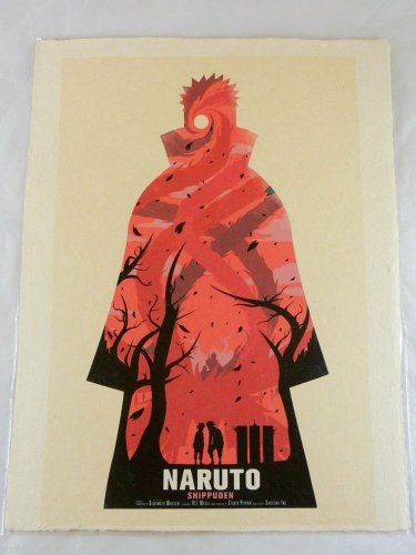 Naruto Poster Anime Wall Scroll 12x16 Home Decor Shippuden rare Uchiha Obito red