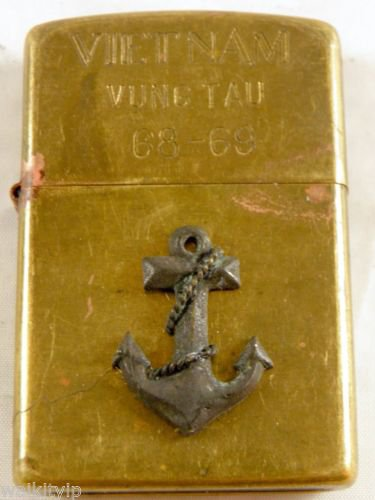 Vietnam War vintage cigarette cigarettes lighter lighters case 68 69 3D Sail Sea