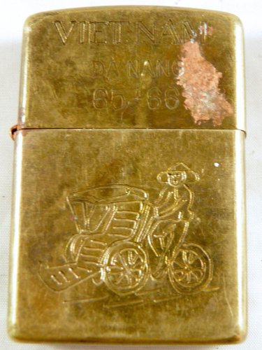 Vietnam War vintage cigarette cigarettes lighter lighters case 65 66 2D Rickshaw