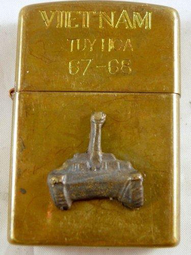 Vietnam War vintage cigarette cigarettes lighter lighters case 67 68 3D TANK HOT