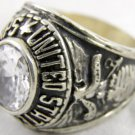 ring vietnam era military war gear collectibles SIZE 10 White US Marine Corp a s