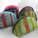 Purse Coin Wallet Holder Case Womens Nylon Set of 3 With Key Chain zip-around a