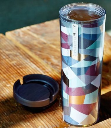 Starbucks Mosaic Tumbler Coffee 2014 Cup Mug Oz New 16oz Travel 16 2013 Blue ...